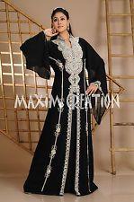 Beautiful Dubai Caftan Dress Abaya Jilbab Islamic Kheleeji Sequins Arabian 3558