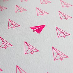Paper airplanes pattern
