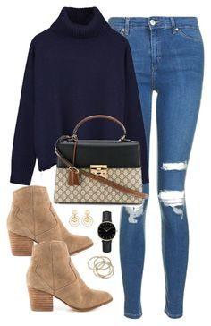 """""""Untitled #3385"""" by theaverageauburn on Polyvore featuring Topshop, Ille De Cocos, Gucci, ALDO, ROSEFIELD, ABS by Allen Schwartz and Kenneth Jay Lane"""