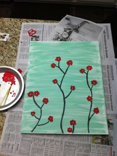This is the type of stuff Iove to paint, cherry/plum blossoms are so beautiful and easy to paint :)