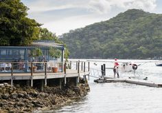 In a beautiful, secluded spot right on the Hawkesbury River, this restaurant is worth making the (short) trip for.