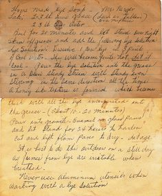 Grandma's Lye Soap recipe (1) From: FlickR, please visit