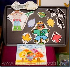 The Falling Leaves and the Scarecrow ~ Free printable story retelling props