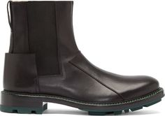 Jil Sander Black Leather Chelsea Aceto Boots