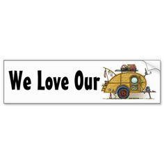 old teardrop trailers | Cute RV Vintage Teardrop Camper Travel Trailer Bumper Sticker from ...