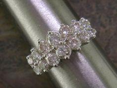 14K two-tone double-row diamond ring 1.50+ carat total LOWERD PRICE - $995