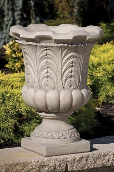 "24"" Fern Leaf Urn Massarelli Fiberglass Planters, Urn Planters, Angel Statues, Hanging Pots, Outdoor Living, Outdoor Decor, Ferns, Garden Pots, Flower Pots"