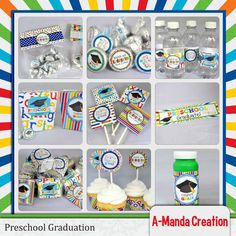 Celebrate your little one graduating from Preschool with these cute printable Preschool Graduation Bundle, includes 10 coordinating printables