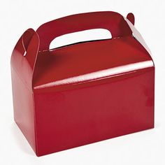 Red Meal Munch Box : Perfect for filling with celebration goodies or small gifts, these lovely red boxes will be a hit!