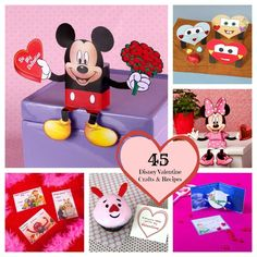 45 Disney Valentine's Crafts & Recipes- We're loving those Piglet cupcakes!