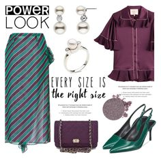 """Your Signature Power Look"" by pearlparadise ❤ liked on Polyvore featuring Marco de Vincenzo, Roksanda, Nine West, Chanel, StyleNanda, Anastasia Beverly Hills, contestentry, pearljewelry, powerlook and pearlparadise"