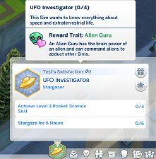 Mod The Sims - UFO Investigator Aspiration