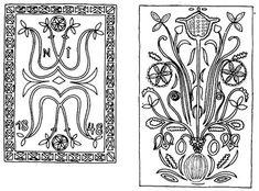 Kalotaszegi zöld mázas csempék (v. Kolozs m.) Folk Embroidery, Embroidery Dress, Embroidery Patterns, Digimon, Clay Art, Folk Art, Stencils, Pottery, Ornaments