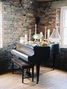 How to incorporate a piano into your wedding: http://www.stylemepretty.com/2013/07/08/salvato-mill-photo-shoot-from-trent-bailey-photography-firefly-events/ | Photography: Trent Bailey - http://www.trentbailey.com/