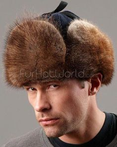 83b76b7d9a1e7 See more. Canadian RCMP Muskrat Fur Jockey Hat  CoolHats Mens Sheepskin  Slippers
