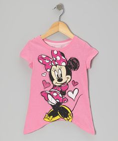 Little ones with big doodle dreams will love sporting this toon-tastic top! Boasting a delightful Minnie graphic and sweet sidetail silhouette, it's the perfect pick for mini Mouseketeers!
