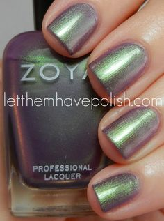 """Zoya's """"Adina"""". Really, really love the light green shimmer mixed with the lavender/pink. Must get this!!"""