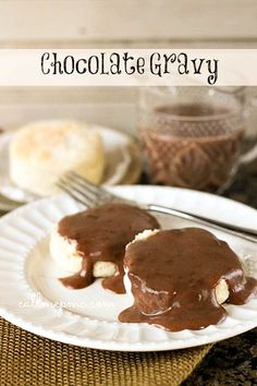 Chocolate Gravy is a Southern classic. It's a rich and buttery chocolate sauce that's best served warm over hot biscuits!