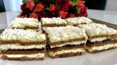 Princessa - ciasto bez pieczenia! - Blog z apetytem Krispie Treats, Rice Krispies, Kolaci I Torte, Polish Recipes, Polish Food, Vanilla Cake, Tiramisu, Cheesecake, Ethnic Recipes