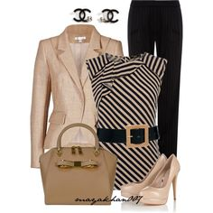 A fashion look from February 2014 featuring Oasis blouses, Paule Ka blazers and Jaeger pants. Browse and shop related looks.