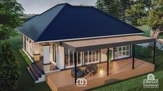 10 Contemporary House Designs With Floor Plan Perfect for Modern Family Bungalow House Plans, Bungalow House Design, Modern Bungalow, Modern House Plans, Small House Plans, Small Cottage Designs, Small House Design, Modern House Design, Beautiful Small Homes