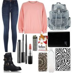 Untitled #3 by loloweed on Polyvore featuring polyvore fashion style River Island Kurt Geiger Casetify MAC Cosmetics Seletti
