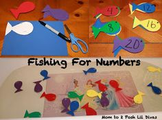 Fishing for Numbers Game - hands-on math fun which can be adapted to so much more (alphabet, sight words, colors, etc)
