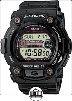 CASIO G-Shock GW-7900-1ER - Reloj de caballero de cuarzo, correa de resina color negro (con radio, cronómetro, luz) de  ✿ Relojes para hombre - (Gama media/alta) ✿