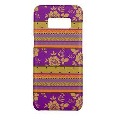 #stripes - #Cool Purple Mustard Yellow Orange Stripes Pattern Case-Mate Samsung Galaxy S8 Case