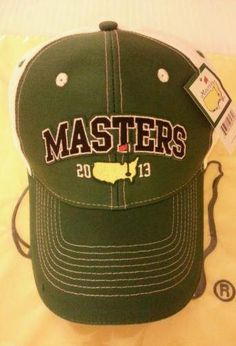 1ed86702f99 2013 MASTERS Golf Dated Hat Cap GREEN  amp  WHITE Augusta National   GolfPracticeTipsAndDrills  TipsToImproveYourGame