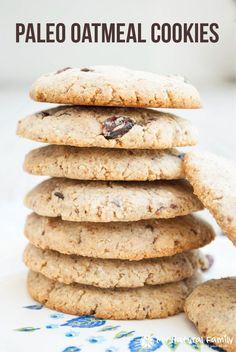 Oatmeal Cookies Recipe (Paleo, Gluten Free, Dairy Free & Clean)
