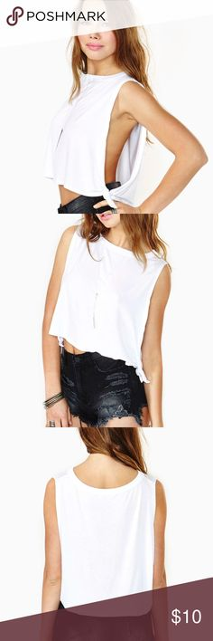 nasty gal Tied Up Crop Tank new with tags purchased at nasty gal brand is solomio Nasty Gal Tops Crop Tops