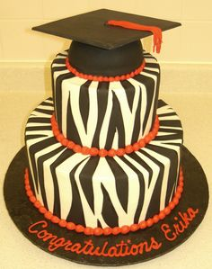 My future graduation cake? Mom and Dad, take note. Except instead of Red- Gold for Mizzou. Or pink :)