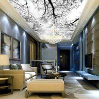 pas cher photo papier peint nuages ciel bleu et blanc papier peint int rieur haut de plafond. Black Bedroom Furniture Sets. Home Design Ideas