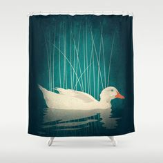Duck Reflected Shower Curtain by Victor Vercesi - $68.00