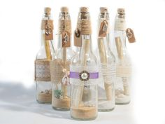 Message In A Bottle Style Wedding Invitations Perfect For Nautical Theme