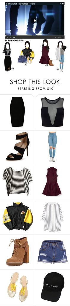 """""""Is this what you wanted MV ~ Hwa-Young"""" by kpop-roleplay ❤ liked on Polyvore featuring Varley, Carvela, Aéropostale, MANGO and BCBGeneration"""