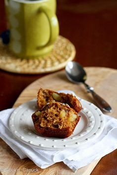 Whole Wheat Apple Spice Muffins Recipe | cookincanuck.com #muffin by CookinCanuck, via Flickr