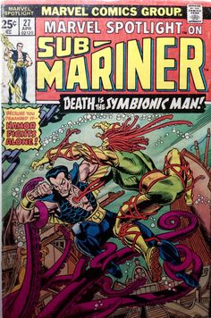 The Savage Sub-Mariner Marvel Comics Geek Reading by Arttolike