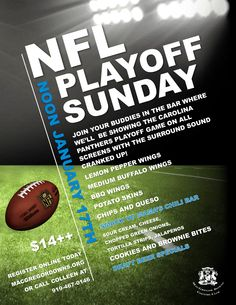 Join your friends at MacGregor Downs Country Club to watch the Carolina Panthers playoff game!