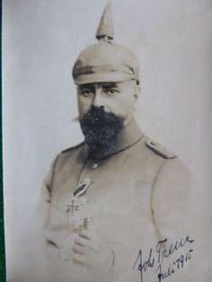 WWI-German-Photo-German-Officer-w-Iron-Cross-Idd-Dated-1915