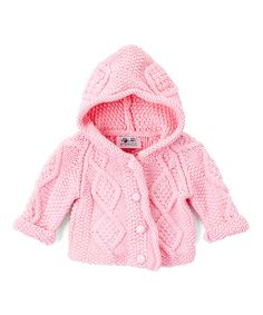 Loving this Pink Cable Knit Cardigan - Infant on #zulily! #zulilyfinds