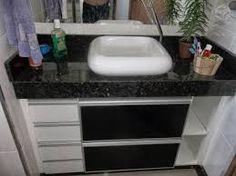 Resultado de imagem para pia armario demarmore para banheiro