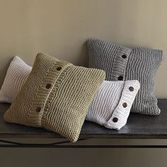 Cushions...I bet this would be a simple and cheap knitting project!