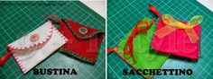 Bustina e sacchettino in pannolenci - minienvelope and minibag in felt