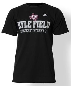 "Adidas ""Kyle Field Biggest in Texas"" t-shirt. #AggieStyle #AggieGifts"