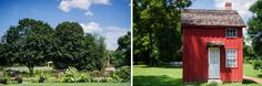 outdoor wedding ceremony at Woodlawn Manor in Sandy Spring MD - Leo Druker Photography