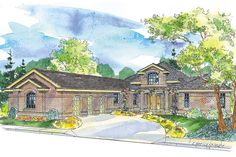 Georgian House Plan - Beckwith 11-128 features hexagonal great room, screened porch, and loft by Associated Designs