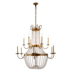 Roma 12 Light Candle-Style Chandelier Finish: Golden Iron - http://chandelierspot.com/roma-12-light-candlestyle-chandelier-finish-golden-iron-595086443/