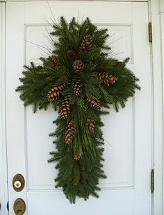 Christmas Cross Wreath